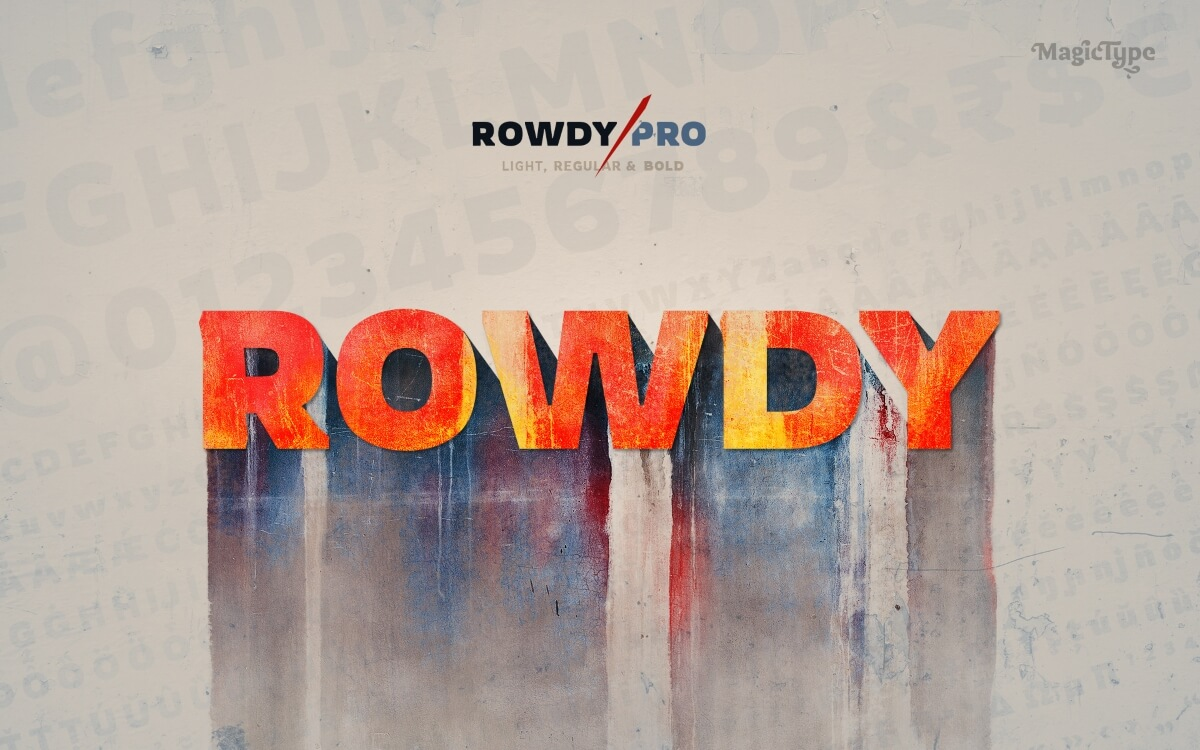 Rowdy Pro font